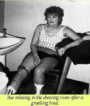 Sue Brittain a 1970's pioneer who fought for the right to wrestle.